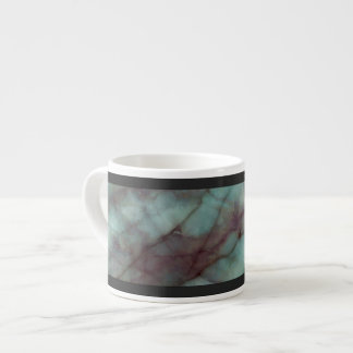 Teal and Purple Fluorite Marble Espresso Cup