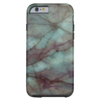 Teal and Purple Fluorite Marble Tough iPhone 6 Case