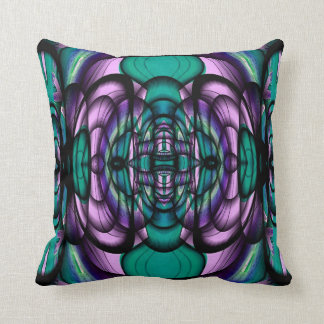Teal and Purple Fractal Design American MoJo Pillo Pillows