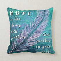Teal and Purple Hope Pillow for Ovarian Cancer