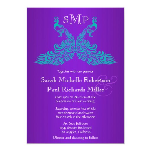 Purple And Teal Wedding Invitations could be nice ideas for your invitation template