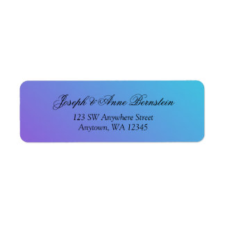 Teal and Purple Return Address Label