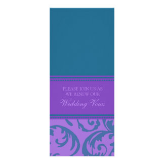 Teal and Purple Wedding Vow Renewal Invitations