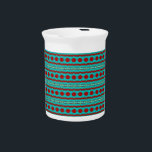 """Teal and Red Abstract Design on Pitcher<br><div class=""""desc"""">Teal and Red Abstract Design on Pitcher</div>"""