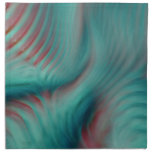 Teal and Red Napkins