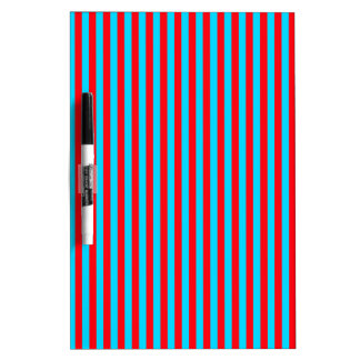 Teal and Red Stripes Dry Erase Board