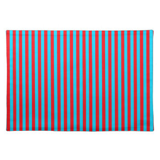 Teal and Red Stripes Place Mat