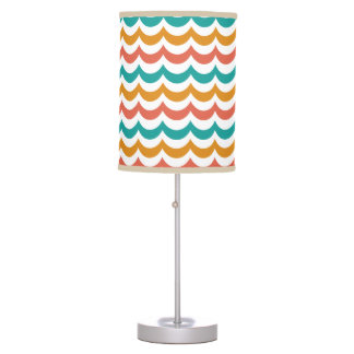 Teal and Rust Modern Circus Desk Lamp