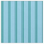 [ Thumbnail: Teal and Sky Blue Colored Pattern of Stripes Fabric ]