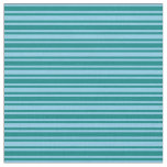 [ Thumbnail: Teal and Sky Blue Stripes Pattern Fabric ]