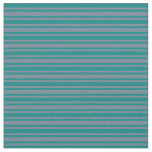 [ Thumbnail: Teal and Slate Gray Colored Striped Pattern Fabric ]