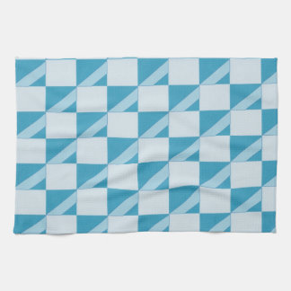 Teal and turquoise diagonal striped kitchen towels