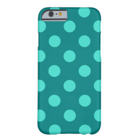 Teal and Turquoise Polka Dots Barely There iPhone 6 Case