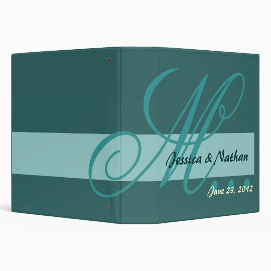 TEAL and TURQUOISE  Wedding Photo Planner Binder