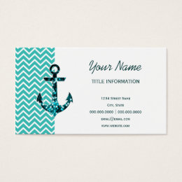 Nautical star business cards images card design and card template nautical star and anchor business cards templates zazzle teal and turquouise chevron nautical anchor business card reheart Gallery