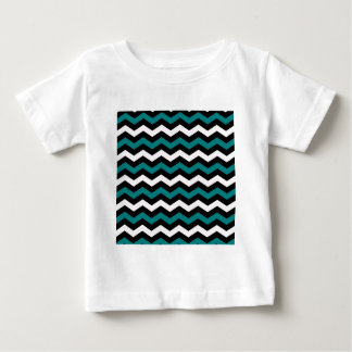 TEAL AND WHITE CHEVRON BABY T-Shirt