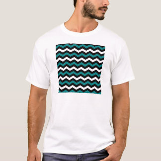 TEAL AND WHITE CHEVRON T-Shirt