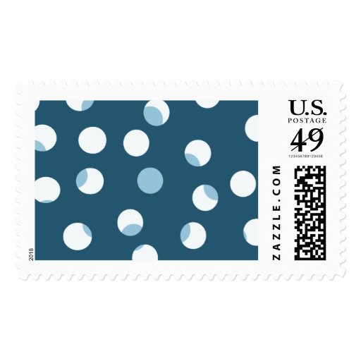 Teal and white dot pattern. Green - blue. Stamps