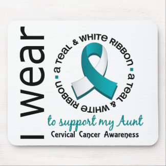 Teal And White For My Aunt 17 Cervical Cancer Mouse Pad
