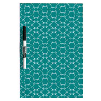Teal and White Geometric Doodle Pattern Dry-Erase Board