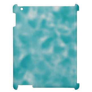 Teal and White Mottled iPad Cover