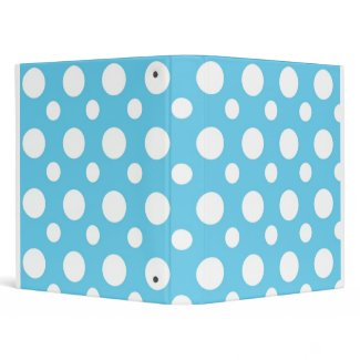Teal And White Polka Dots School Notebook binder