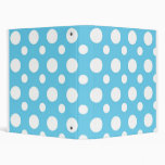 Teal And White Polka Dots School Notebook Vinyl Binder