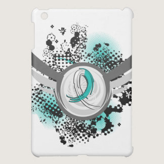 Teal And White Ribbon And Wings Cervical Cancer iPad Mini Case