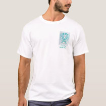 Teal and White Ribbon Angel Cause Awareness Shirts