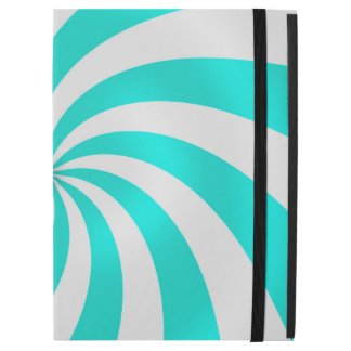 Teal and White Swirl Pattern Design iPad Case