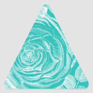 Teal and white triangle sticker