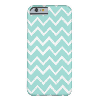 Teal and White Unique Zigzag Chevron Pattern Barely There iPhone 6 Case