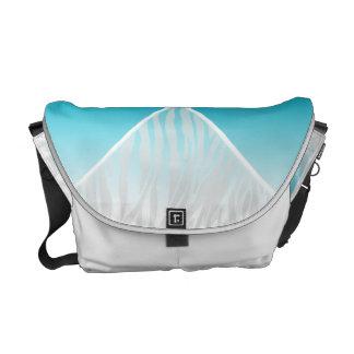 Teal and White Zebra Diamond Messenger Bag