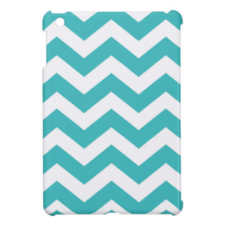 Teal and White Zigzags iPad Mini Case