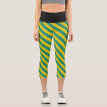 [ Thumbnail: Teal and Yellow Colored Lines/Stripes Pattern Leggings ]