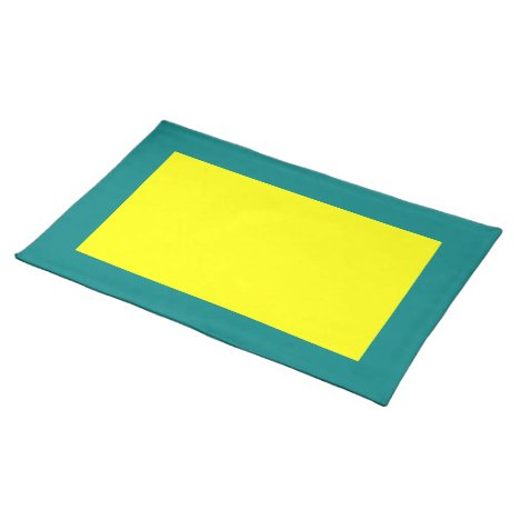 Teal and Yellow Placemat