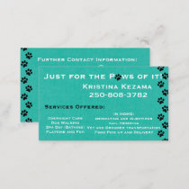 Teal Animal Care Business Card