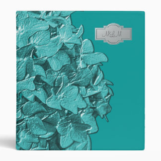 Teal Aqua 3D Hydrangea Photo Binder