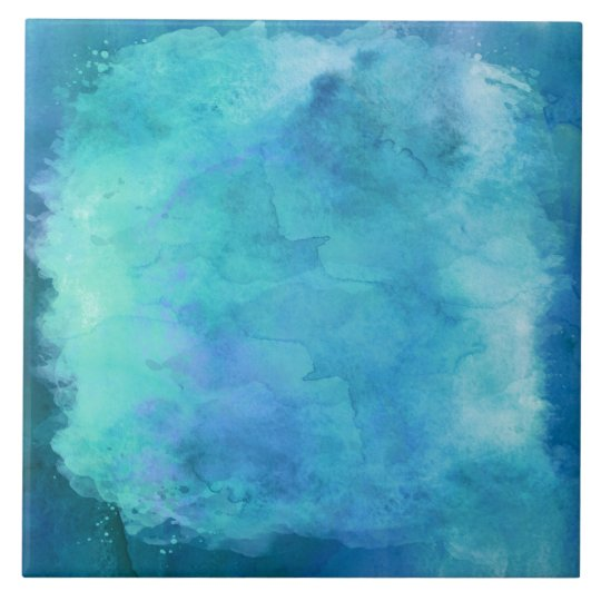 The Texture Of Teal And Turquoise: Teal Aqua Blue Teal Watercolor Texture Pattern Ceramic