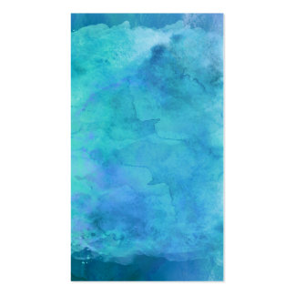 Teal Aqua Blue Teal Watercolor Texture Pattern Double-Sided Standard Business Cards (Pack Of 100)