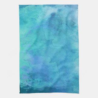 Teal Aqua Blue Teal Watercolor Texture Pattern Towel