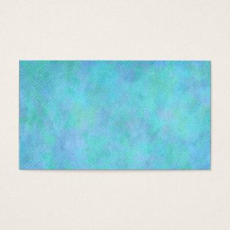 Teal Aqua Blue Watercolor Background Pattern Business Card