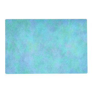 Teal Aqua Blue Watercolor Background Pattern Placemat