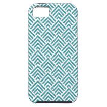 Teal Aqua Chevron Chic Geometric Pattern Elegant iPhone SE/5/5s Case