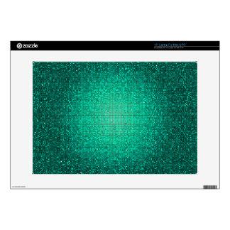 Teal Aqua Glitter Sequin Disco Glitz Computer Skin Laptop Decal