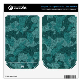 Teal/Aqua Military Camouflage Skin FreeAgent GoFlex Skins