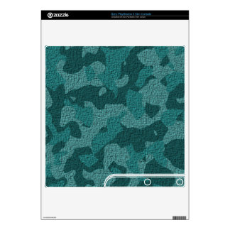 Teal/Aqua Military Camouflage Skin for Sony Playst Decals For PS3 Slim