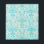 """Teal Aqua Watercolor Damask Ombre Blue Print Notepad<br><div class=""""desc"""">Check out www.zazzle.com/Sweetbriar_Drive for so many other beautiful styles,  items &amp; colors! &#169; SweetbriarDrive 2014. Do not copy.</div>"""