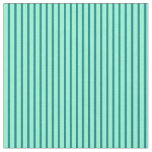 [ Thumbnail: Teal & Aquamarine Colored Stripes Fabric ]