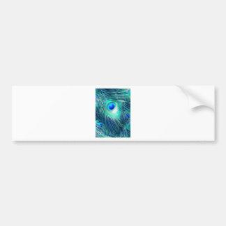 Teal Aquamarine Peacock Feather Bumper Sticker